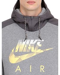 Nike | Gray Logo Printed Cotton Blend Sweatshirt for Men | Lyst