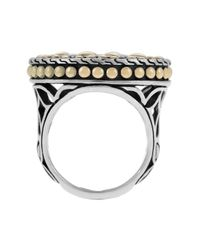 John Hardy - Metallic Kawung 18k Gold & Sterling Silver Coin Ring - Lyst