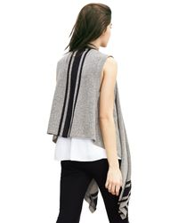 Banana Republic | Gray Drapey Open Sweater Vest | Lyst