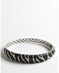 Lord & Taylor - Metallic Cubic Zirconia And Stainless Steel Bangle Bracelet - Lyst