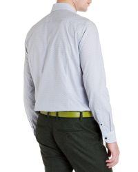 Ted Baker | White Pow Micro Swirl Print Shirt for Men | Lyst