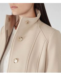 Reiss | Natural Forest Stand Collar Coat | Lyst