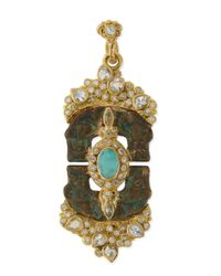 Armenta | Metallic Sueño Blue Turquoise & Rainbow Moonstone Doublet Artifact Enhancer for Men | Lyst