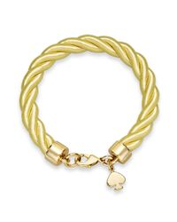 kate spade new york | Metallic Gold-Tone Charm And Citron Learn The Ropes Bracelet | Lyst