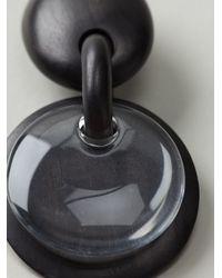 Monies | Black Drop Disc Clip-on Earrings | Lyst