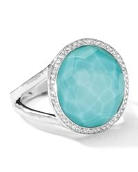 Ippolita | Metallic Stella Lollipop Ring In Turquoise Doublet With Diamonds | Lyst