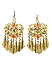 Ben-Amun | Metallic Tribal Gold Earrings | Lyst