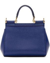 Dolce & Gabbana - Royal Blue Mini Miss Sicily Bag - Lyst