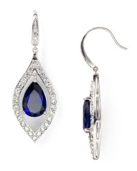 Carolee | Metallic Pavé Drop Earrings | Lyst