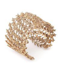 Joanna Laura Constantine | Metallic Large Leaf Cuff | Lyst