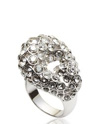 Swarovski | Metallic Silver-Tone & Crystal Ring Size 7 | Lyst