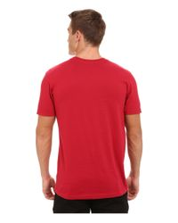 RVCA | Red Halftone Fade Tee for Men | Lyst