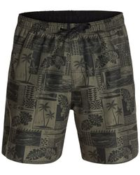 Quiksilver | Black Waterman South Bay Swim Trunks for Men | Lyst