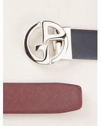 Giorgio Armani | Black Logo Belt | Lyst