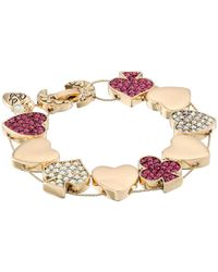 Betsey Johnson | Green Gold-Tone Frog Stretch Bracelet | Lyst