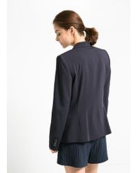 Mango - Blue Suit Blazer - Lyst