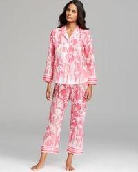 Oscar de la Renta - Pink Rose Trellis Pajama Set - Lyst