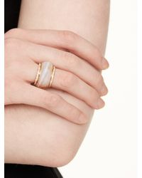 kate spade new york - Gray A Spot Of Sparkle Ring - Lyst