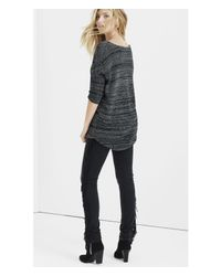 Express | Black Marled London Tunic Sweater | Lyst