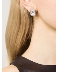 Rebecca - Metallic 'elizabeth' Marquis Post Earrings - Lyst