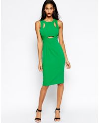 ASOS | Green Peekaboo Dress | Lyst