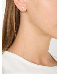 Irene Neuwirth | Metallic Moonstone Stud Earrings | Lyst