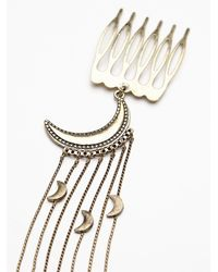 Free People - Metallic Womens Night Out Hair Comb - Lyst