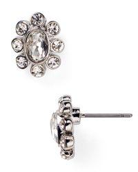 Ralph Lauren | Metallic Lauren Small Round Crystal Stud Earrings | Lyst