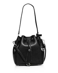 MICHAEL Michael Kors - Black Greenwich Medium Bucket Bag - Lyst