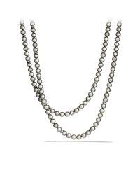 David Yurman - Gray Pearl Necklace - Lyst