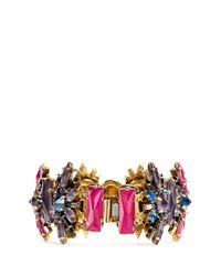 Erickson Beamon | Metallic 'velvet Underground' Floral Crystal Bracelet | Lyst