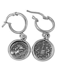 1884 Collection - Metallic 1884 - 'legacy' Sterling Silver Hook Earrings W/ Ottaviano Coins - Lyst