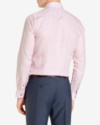 Ted Baker - Pink Linen Shirt for Men - Lyst