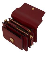 Marni | Dark Red Trunk Leather Bag | Lyst