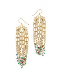 Aurelie Bidermann - Metallic Chain Earrings - Lyst