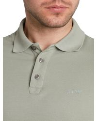 Armani Jeans - Gray Regular Fit Logo Polo Shirt for Men - Lyst