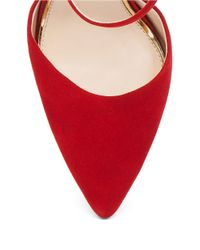 Jessica Simpson | Red Carlette Suede Ankle Strap Pumps | Lyst