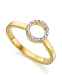 Monica Vinader - Metallic Diva Mini Circle Open Diamond Ring - Lyst