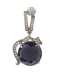 BCBGMAXAZRIA - Black Vintage-Inspired Gemstone Earrings - Lyst