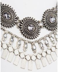 ALDO - Metallic Nydalidda Silver Necklace - Lyst