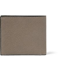 Valextra | Gray Pebbled-Leather Wallet for Men | Lyst