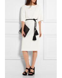 Cedric Charlier | Cédric Charlier - Oversized Crepe Dress - White | Lyst