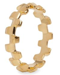 Alice Menter | Metallic Alice Gold Tone Stacking Ring | Lyst