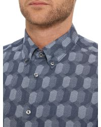 Ben Sherman - Blue Micro Gingham Regular Fit Shirt for Men - Lyst