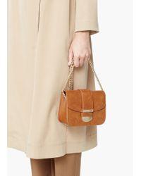 Mango - Brown Small Flap Bag - Lyst