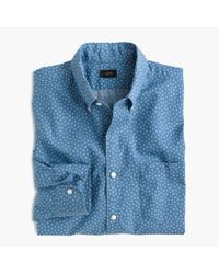 J.Crew - Blue Slim Secret Wash Shirt In Star Print for Men - Lyst