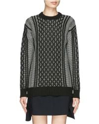 T By Alexander Wang | Black Cable-knit Sweater | Lyst