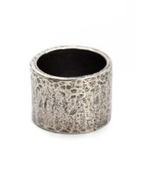 M Cohen | Metallic Carved Tube Ring for Men | Lyst