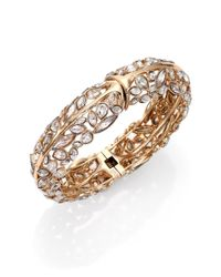 Alexis Bittar | Metallic Miss Havisham Liquid Crystal Broken Glass Bangle Bracelet/goldtone | Lyst