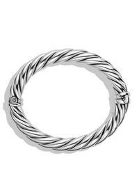 David Yurman - Metallic Sculpted Cable Bracelet - Lyst